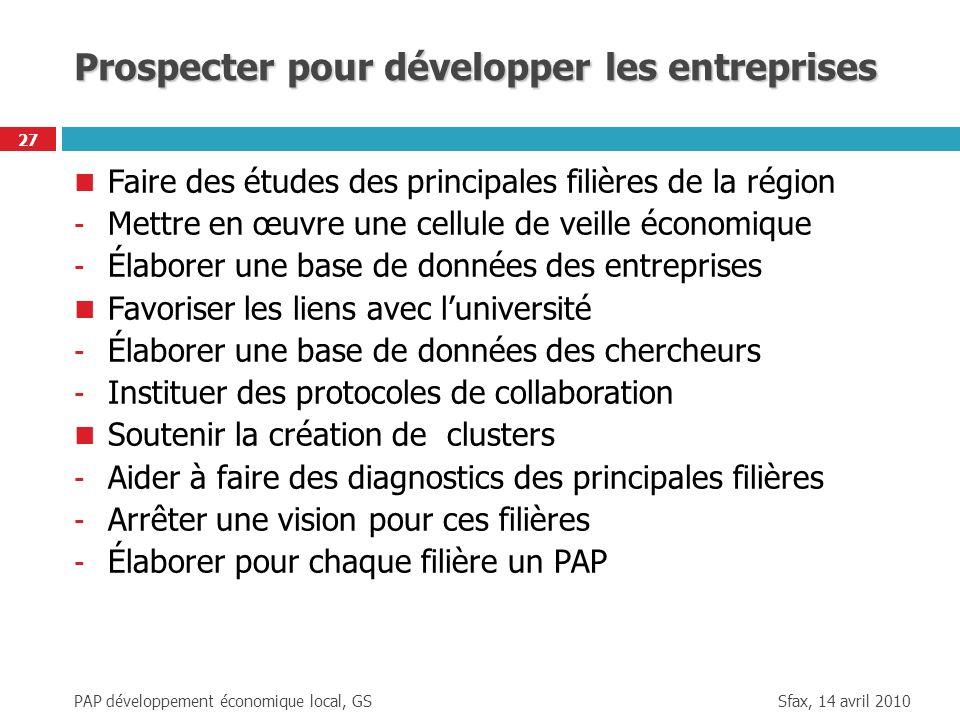 Prospecter pour développer les entreprises