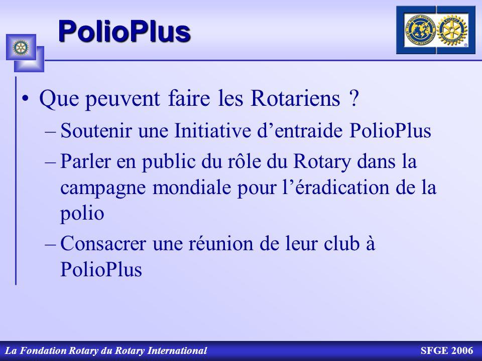 PolioPlus Que peuvent faire les Rotariens