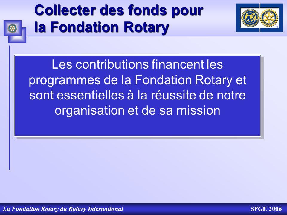 Collecter des fonds pour la Fondation Rotary