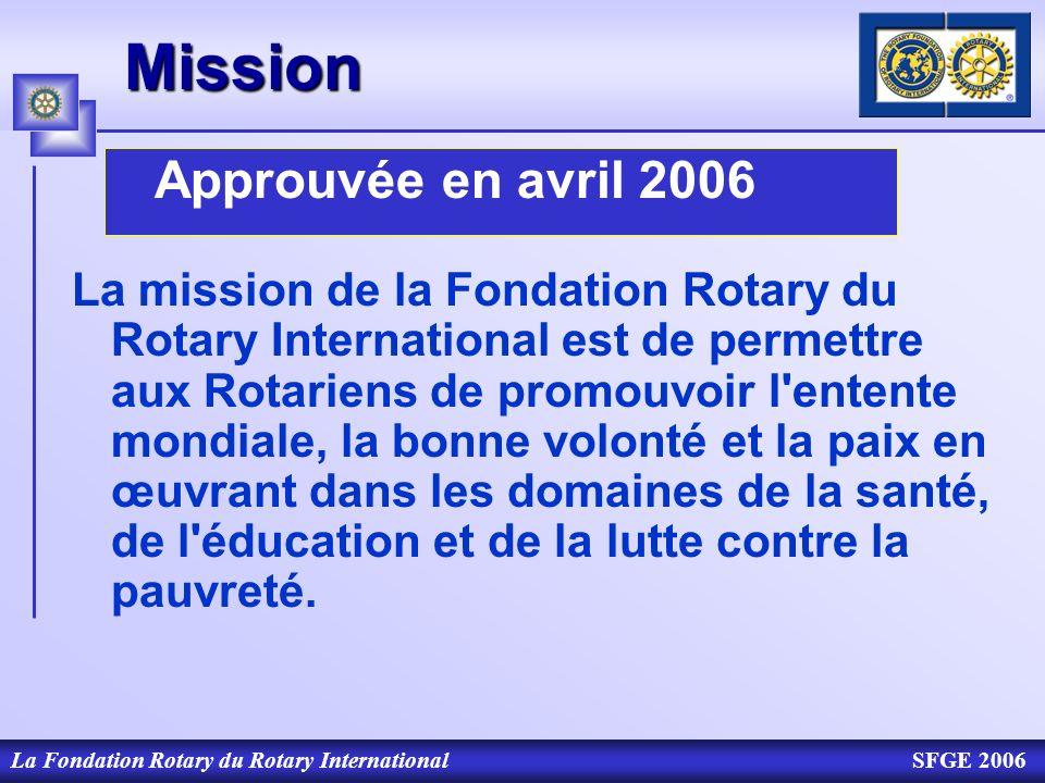 MissionApprouvée en avril 2006.