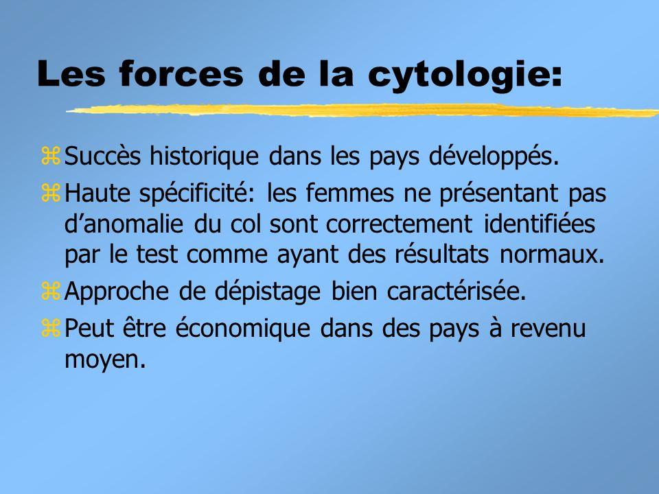 Les forces de la cytologie: