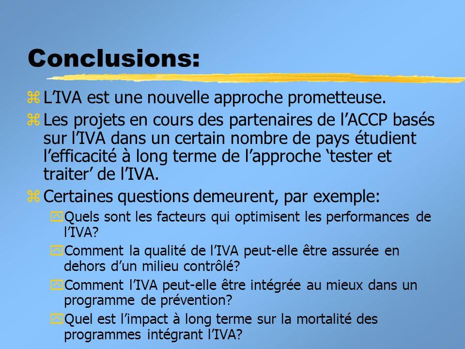 Conclusions: L'IVA est une nouvelle approche prometteuse.