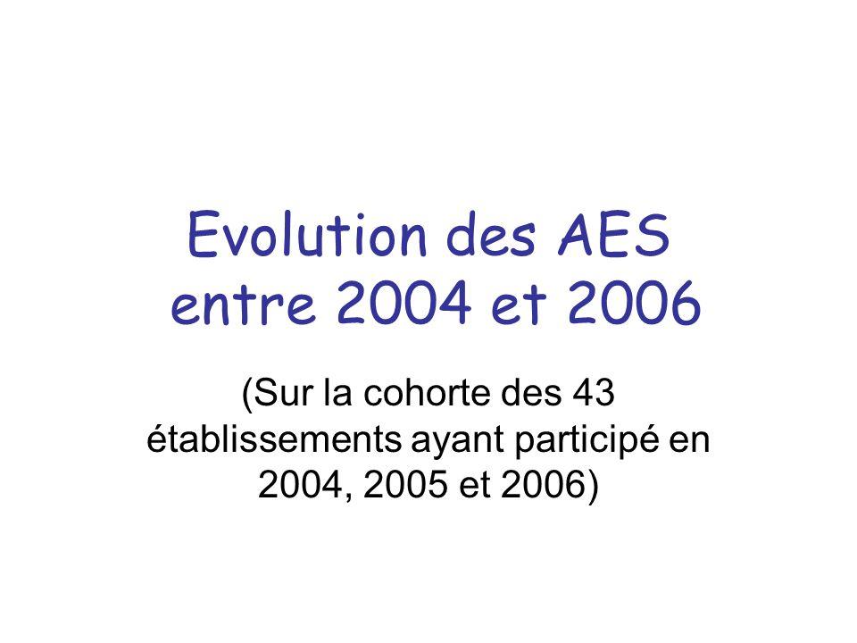 Evolution des AES entre 2004 et 2006