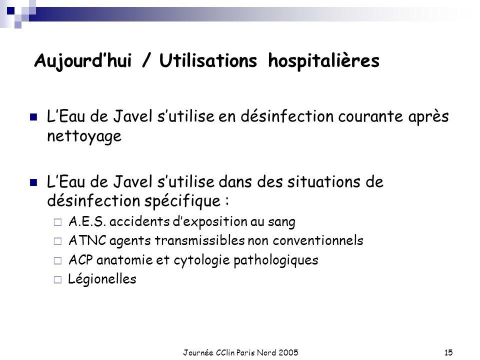 Aujourd'hui / Utilisations hospitalières