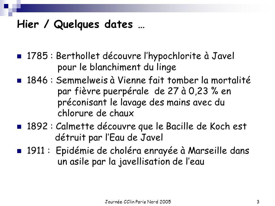 Journée CClin Paris Nord 2005