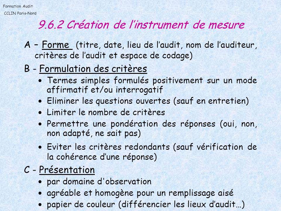 9.6.2 Création de l'instrument de mesure