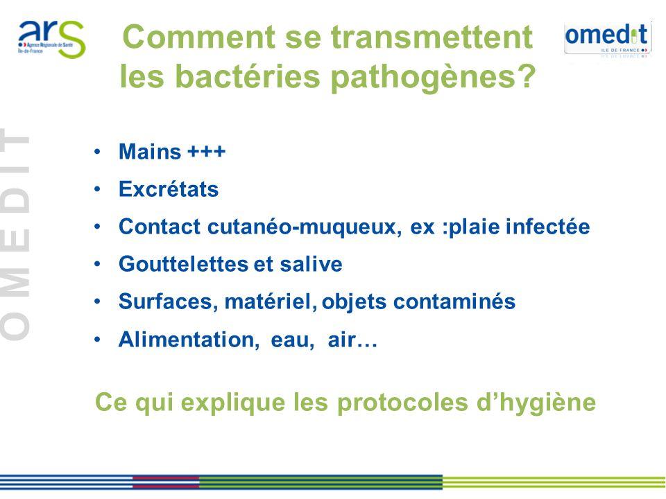 Comment se transmettent les bactéries pathogènes