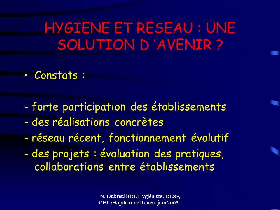 HYGIENE ET RESEAU : UNE SOLUTION D 'AVENIR