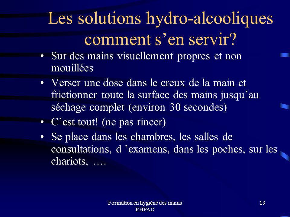 Les solutions hydro-alcooliques comment s'en servir