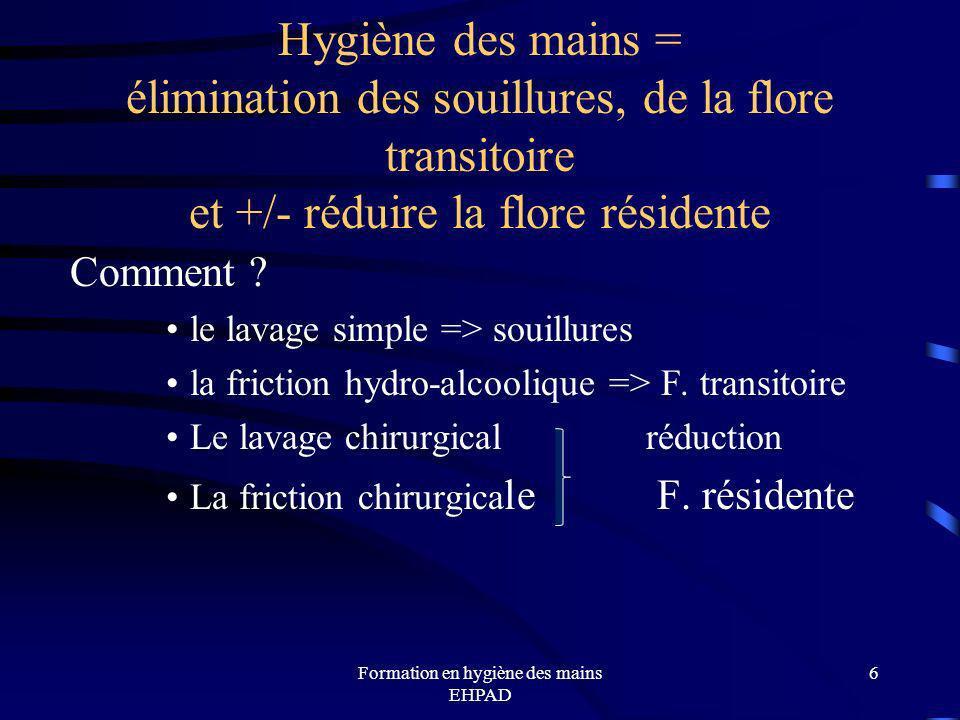 Formation en hygiène des mains EHPAD