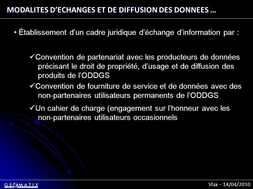 MODALITES D'ECHANGES ET DE DIFFUSION DES DONNEES …
