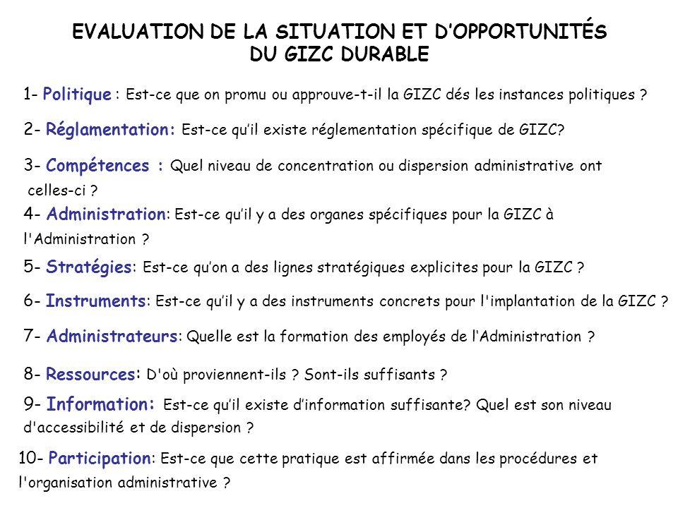 EVALUATION DE LA SITUATION ET D'OPPORTUNITÉS