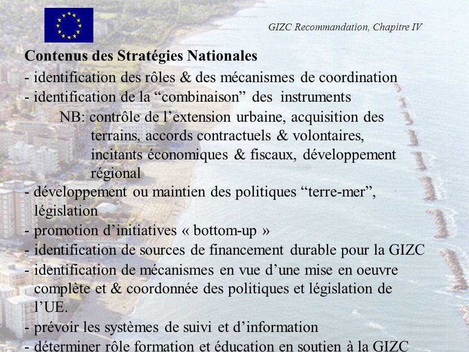 Contenus des Stratégies Nationales