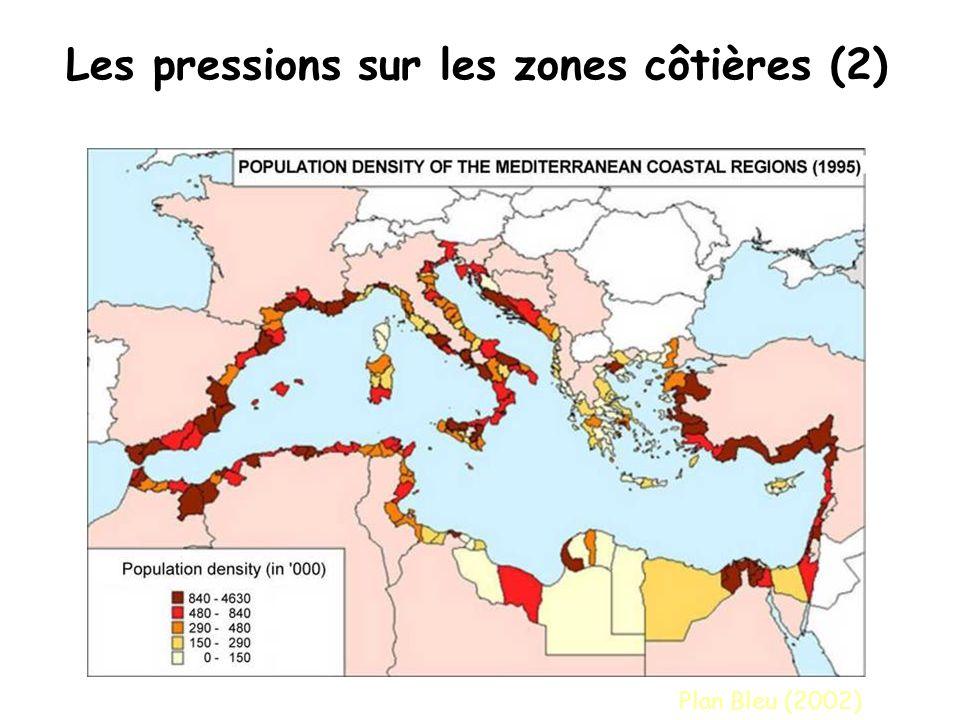 Les pressions sur les zones côtières (2)