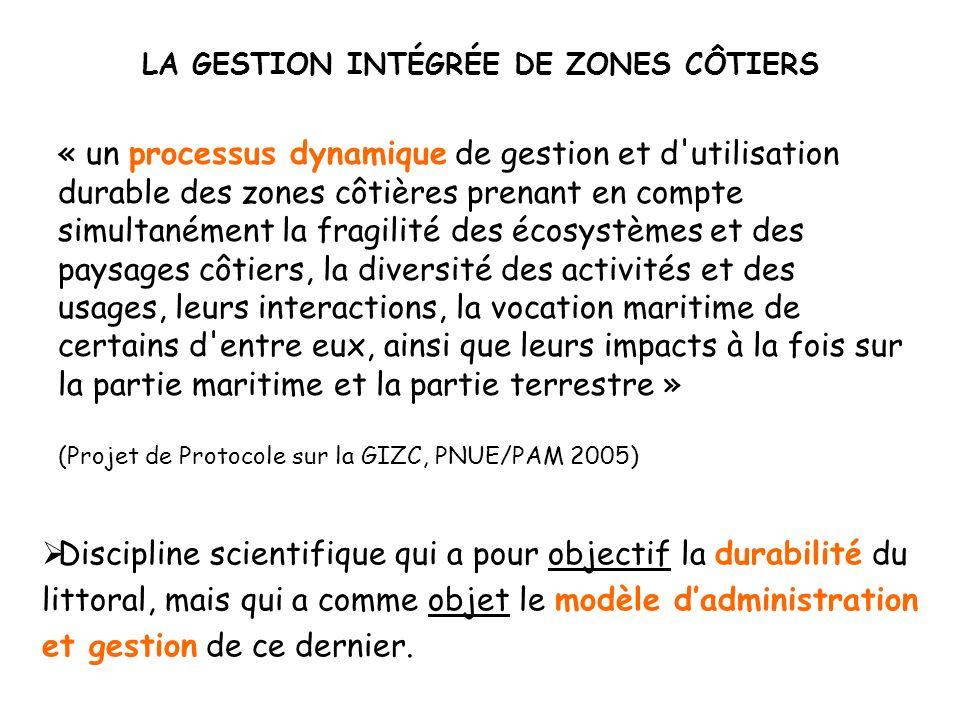 LA GESTION INTÉGRÉE DE ZONES CÔTIERS