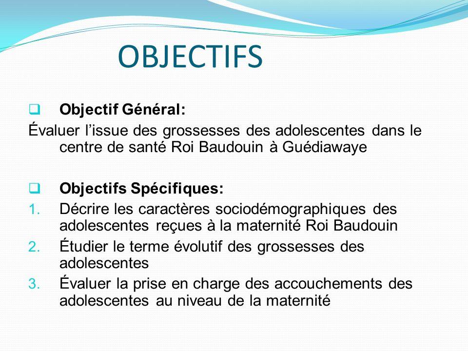 OBJECTIFS Objectif Général: