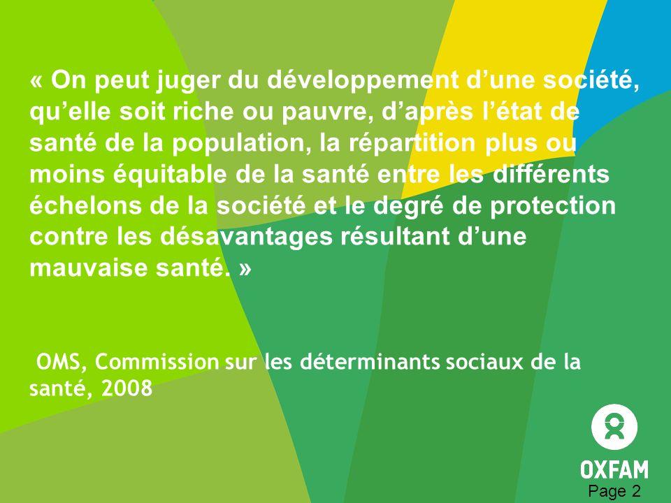OMS, Commission sur les déterminants sociaux de la santé, 2008