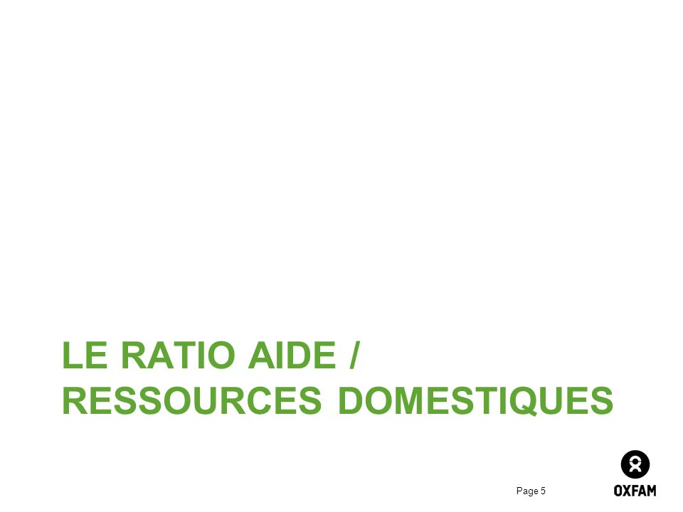 LE RATIO Aide / ressources domestiques
