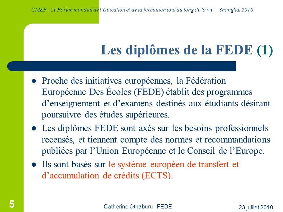 Les diplômes de la FEDE (1)