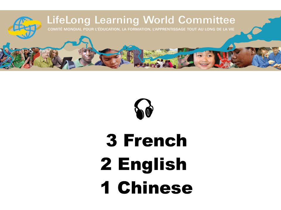  3 French 2 English 1 Chinese