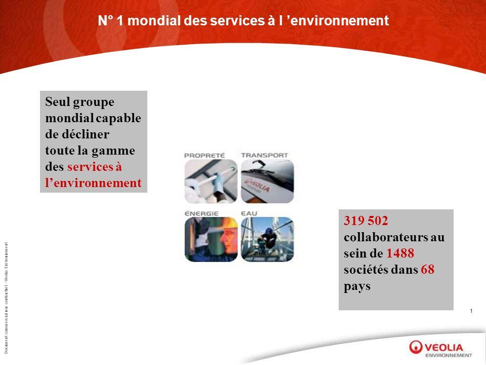N° 1 mondial des services à l 'environnement