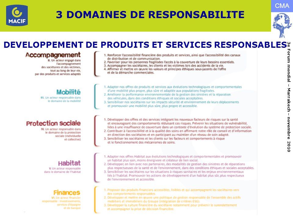 3 DOMAINES DE RESPONSABILITE