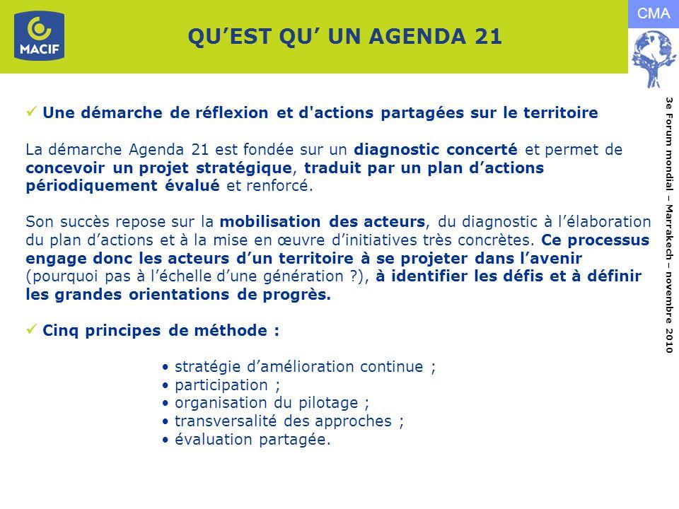 QU'EST QU' UN AGENDA 21  Une démarche de réflexion et d actions partagées sur le territoire.