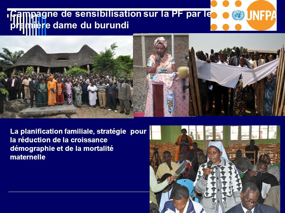Campagne de sensibilisation sur la PF par le première dame du burundi