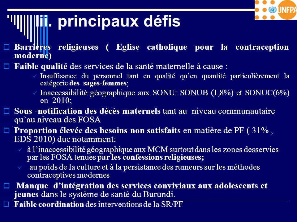 Iii. principaux défis Barrières religieuses ( Eglise catholique pour la contraception moderne)