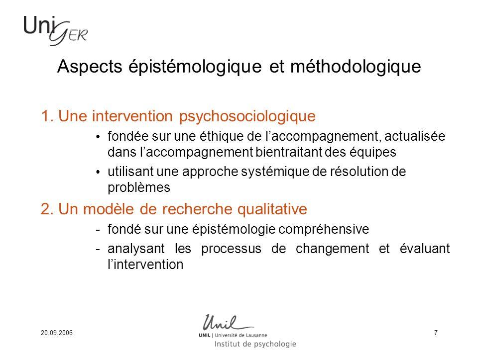 Aspects épistémologique et méthodologique
