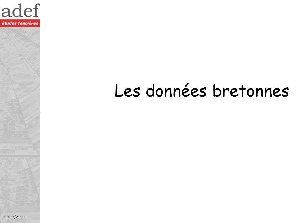 Les données bretonnes 02/03/2007