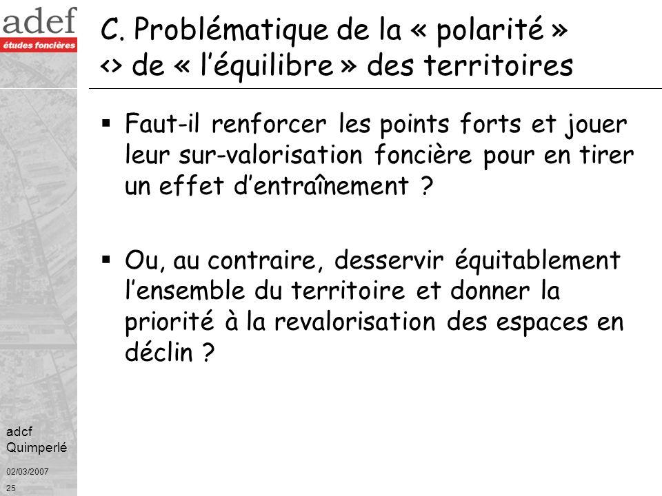 C. Problématique de la « polarité » <> de « l'équilibre » des territoires