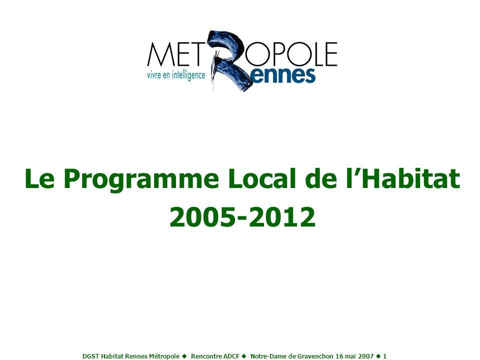 Le Programme Local de l'Habitat 2005-2012