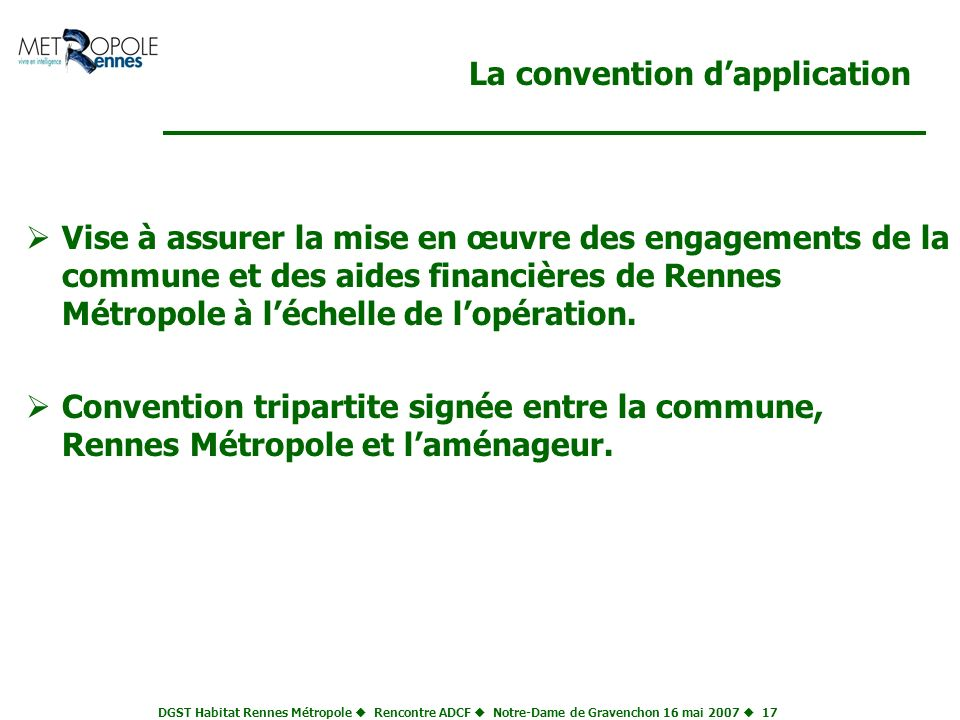 La convention d'application