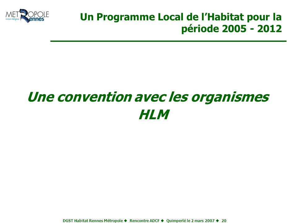 Un Programme Local de l'Habitat pour la période 2005 - 2012