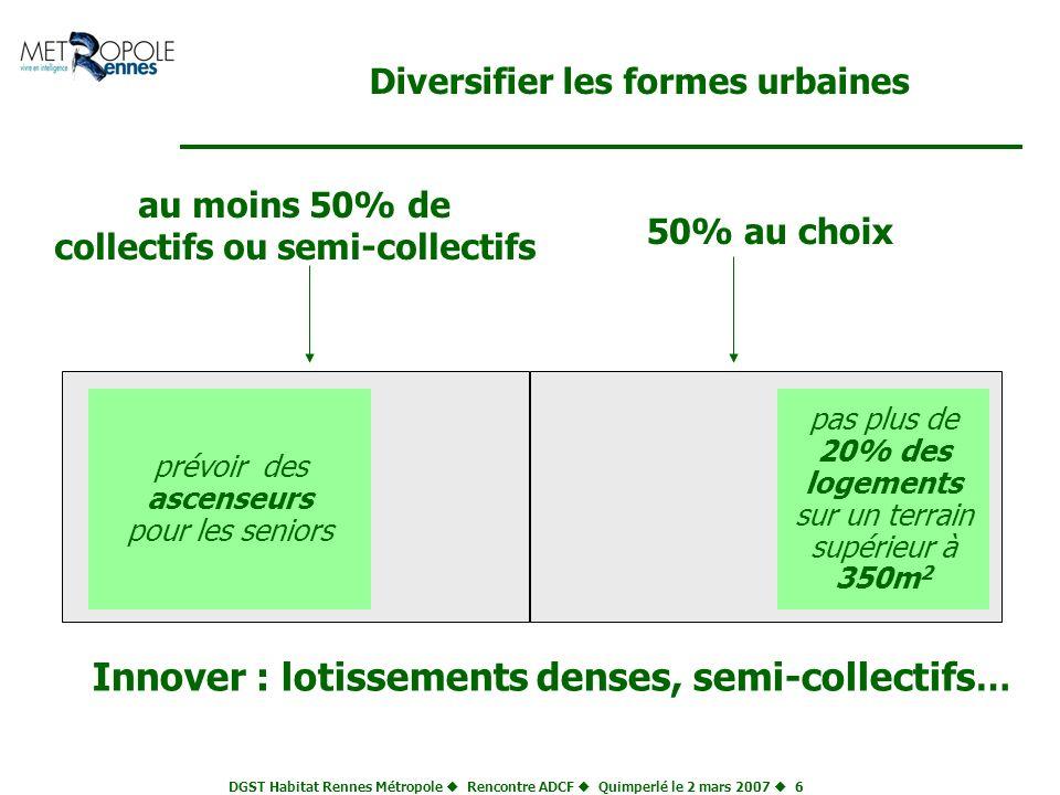 Diversifier les formes urbaines