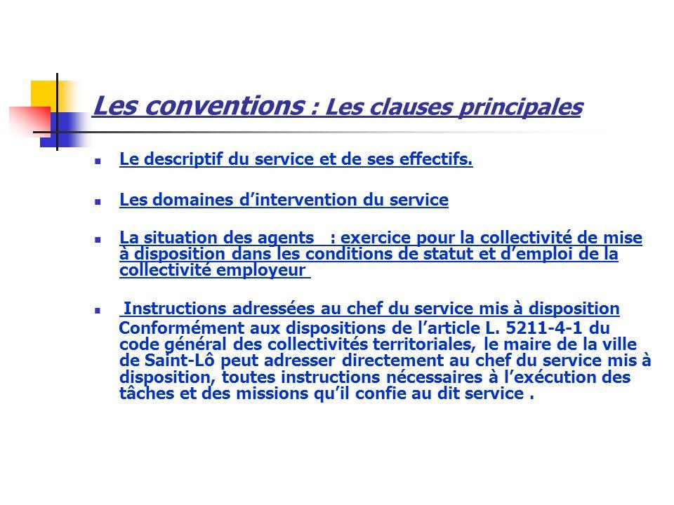 Les conventions : Les clauses principales