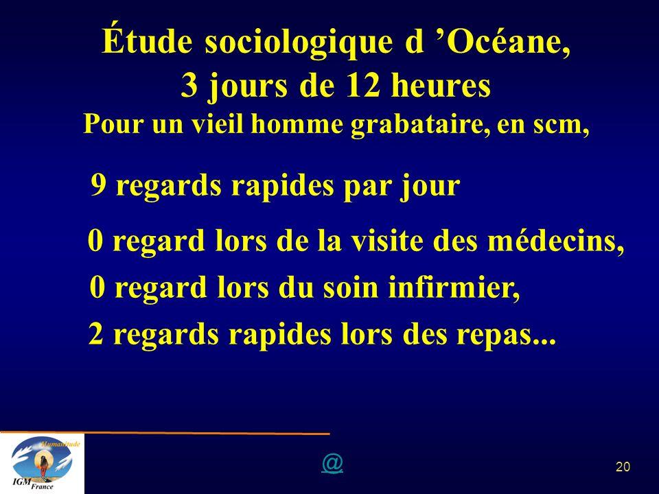 Étude sociologique d 'Océane, 3 jours de 12 heures