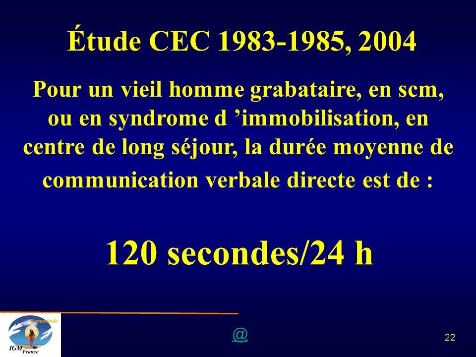 Étude CEC 1983-1985, 2004