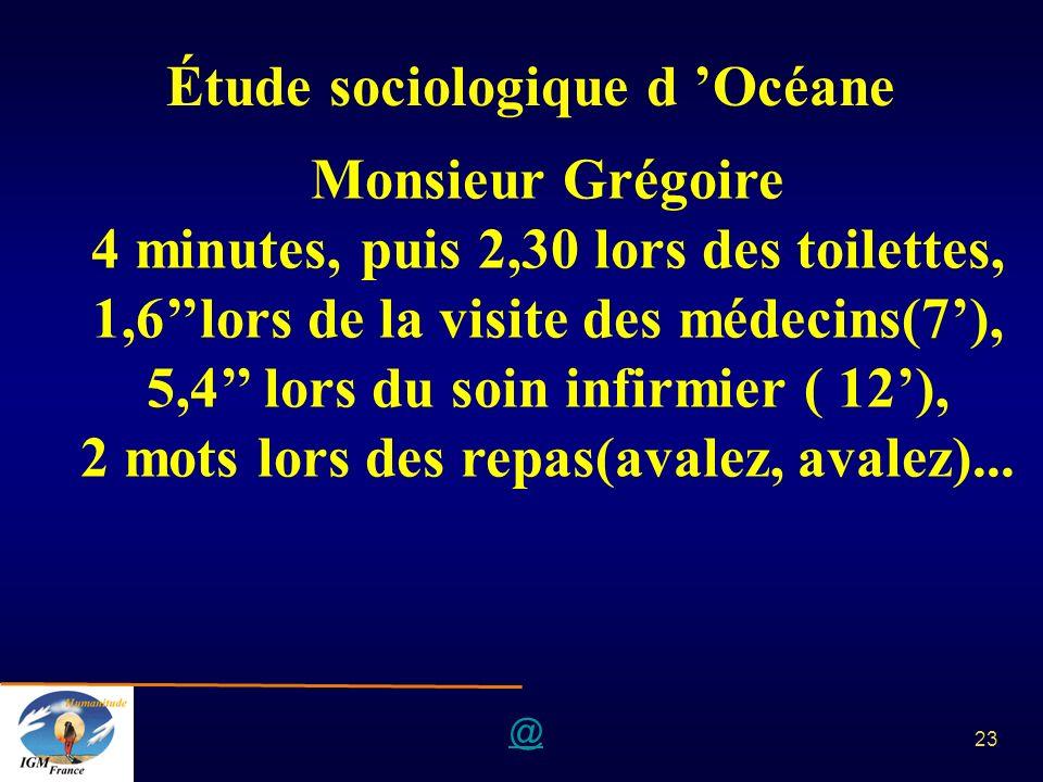 Étude sociologique d 'Océane