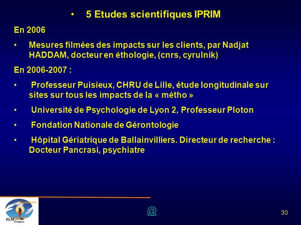 5 Etudes scientifiques IPRIM