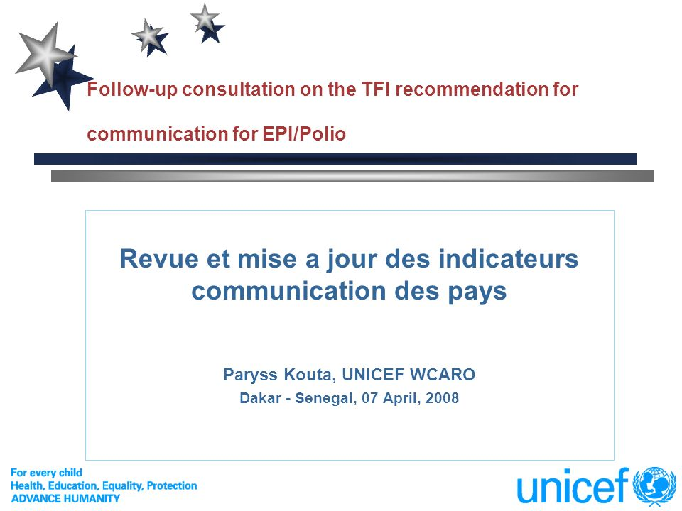 Revue et mise a jour des indicateurs communication des pays