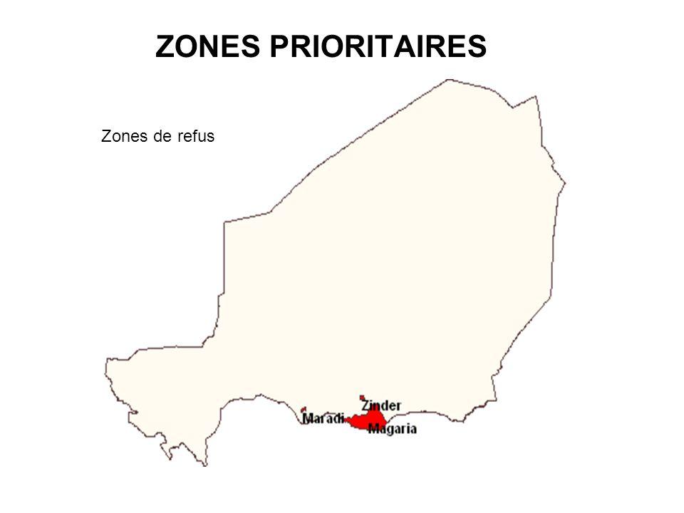 ZONES PRIORITAIRES Zone d'accès difficile Zone à population nomade