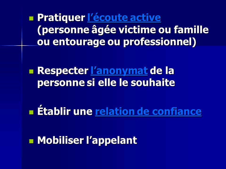 Pratiquer l'écoute active (personne âgée victime ou famille ou entourage ou professionnel)
