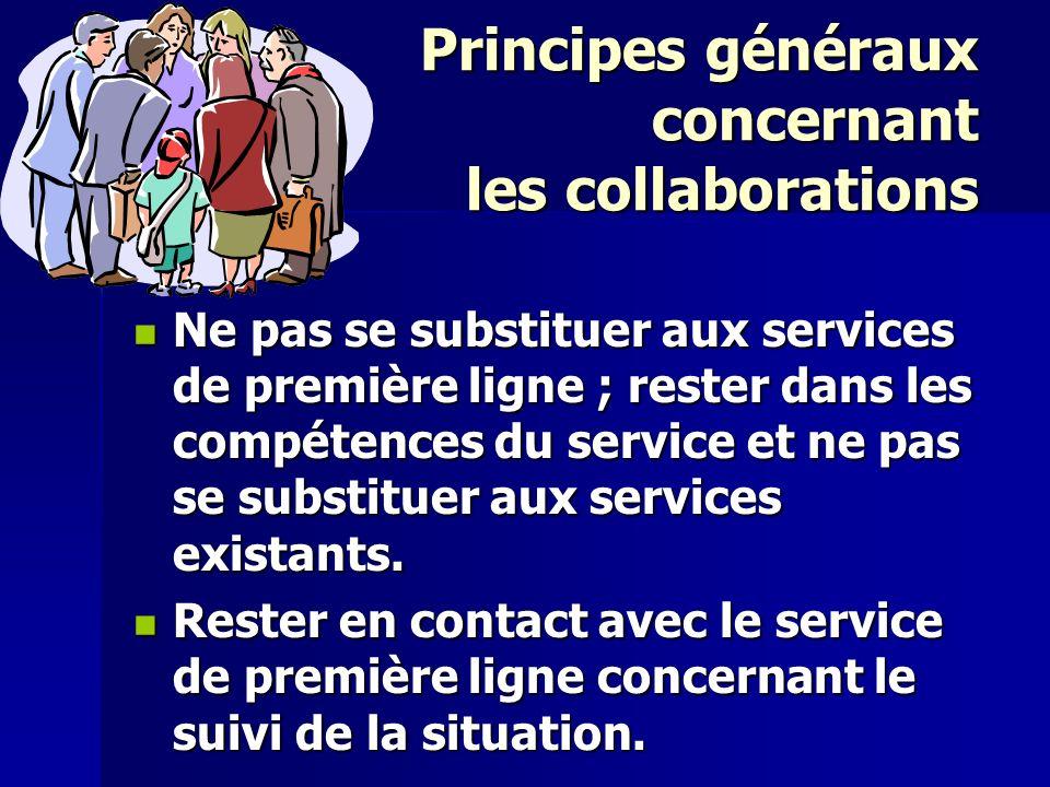 Principes généraux concernant les collaborations