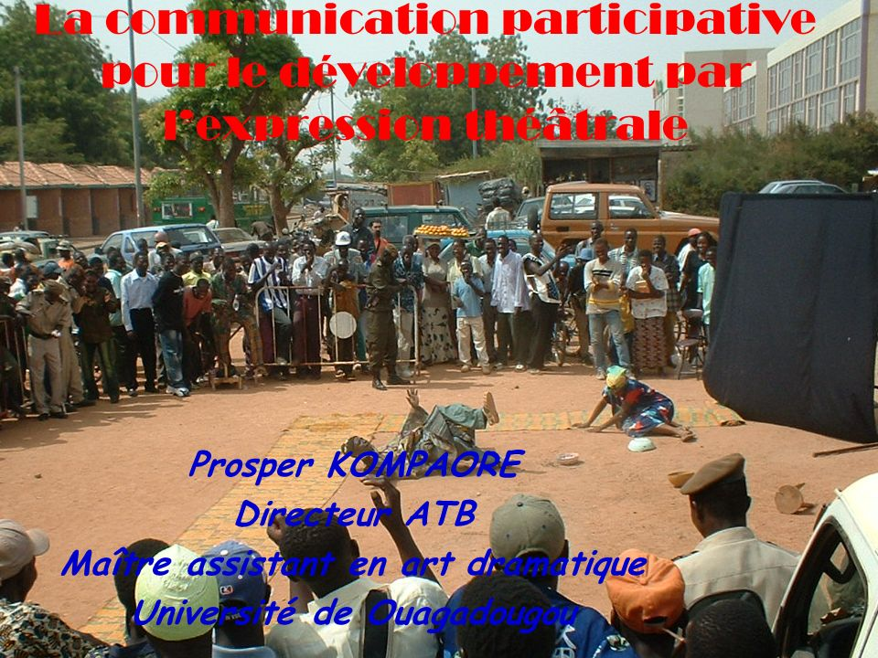 Maître assistant en art dramatique Université de Ouagadougou