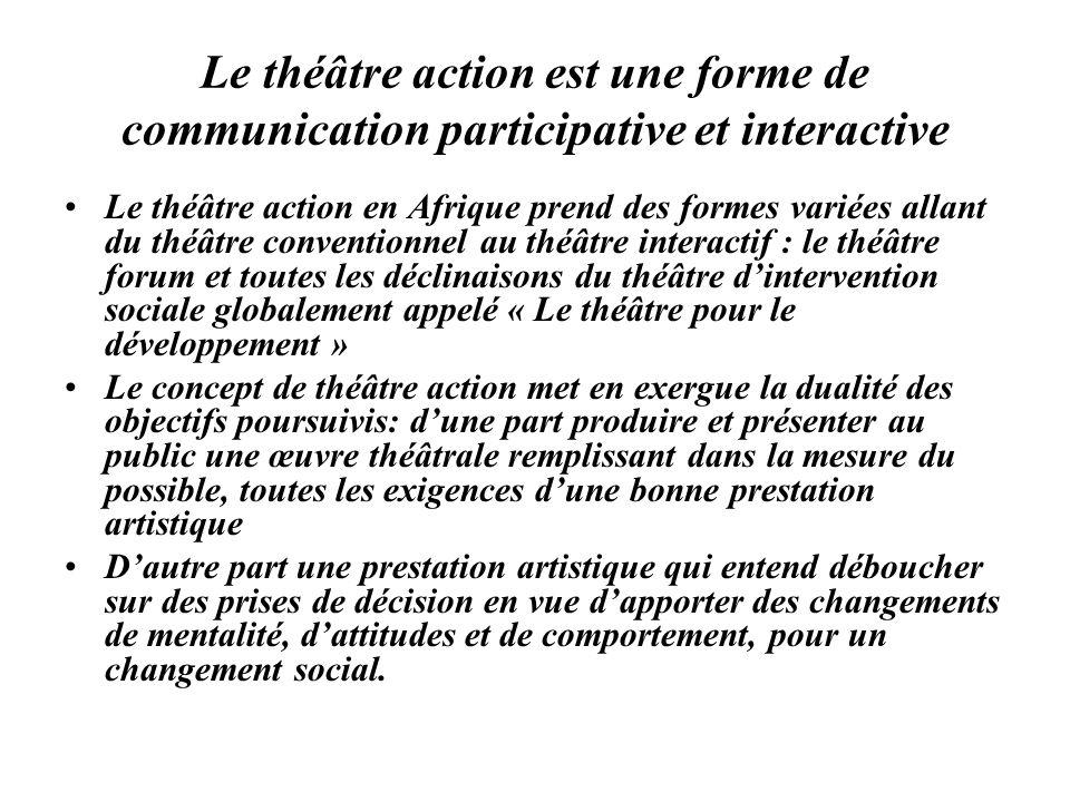 Le théâtre action est une forme de communication participative et interactive