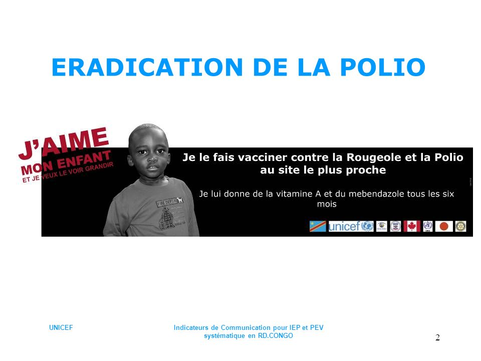 ERADICATION DE LA POLIO