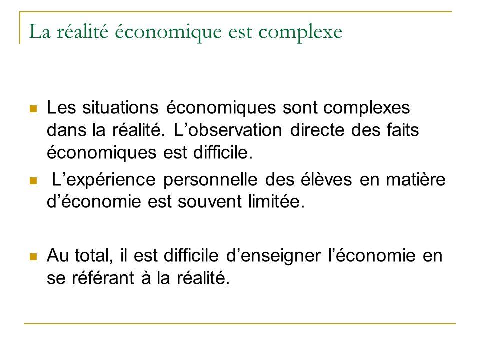 La réalité économique est complexe