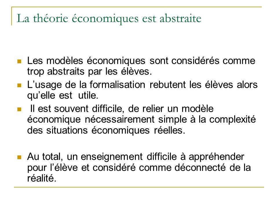 La théorie économiques est abstraite